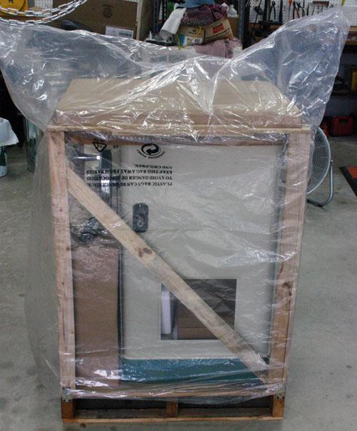 Under cabinet range hood external blower